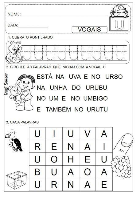 Atividades Com Vogais Atividade Alfabeto Educacao Infantil