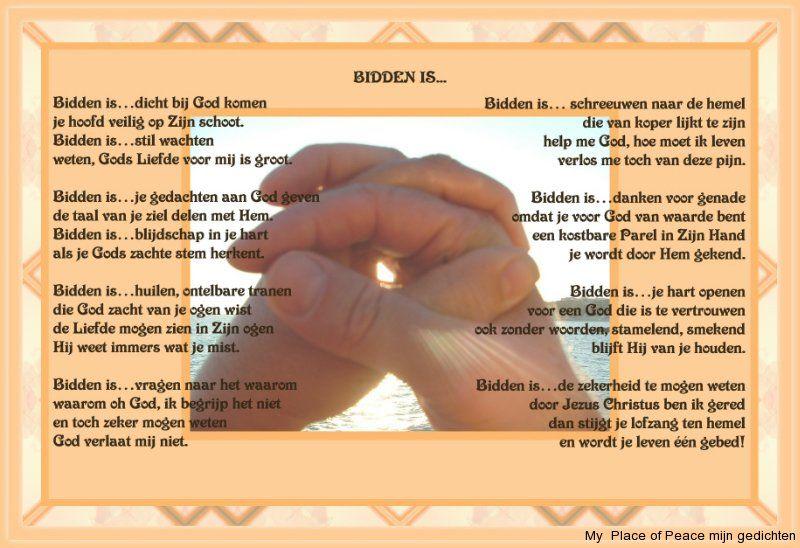 gedicht over bidden