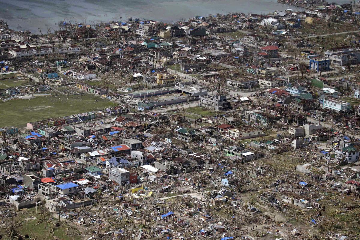 Typhoon Haiyan Climate Change Effects Philippines Aerial Images