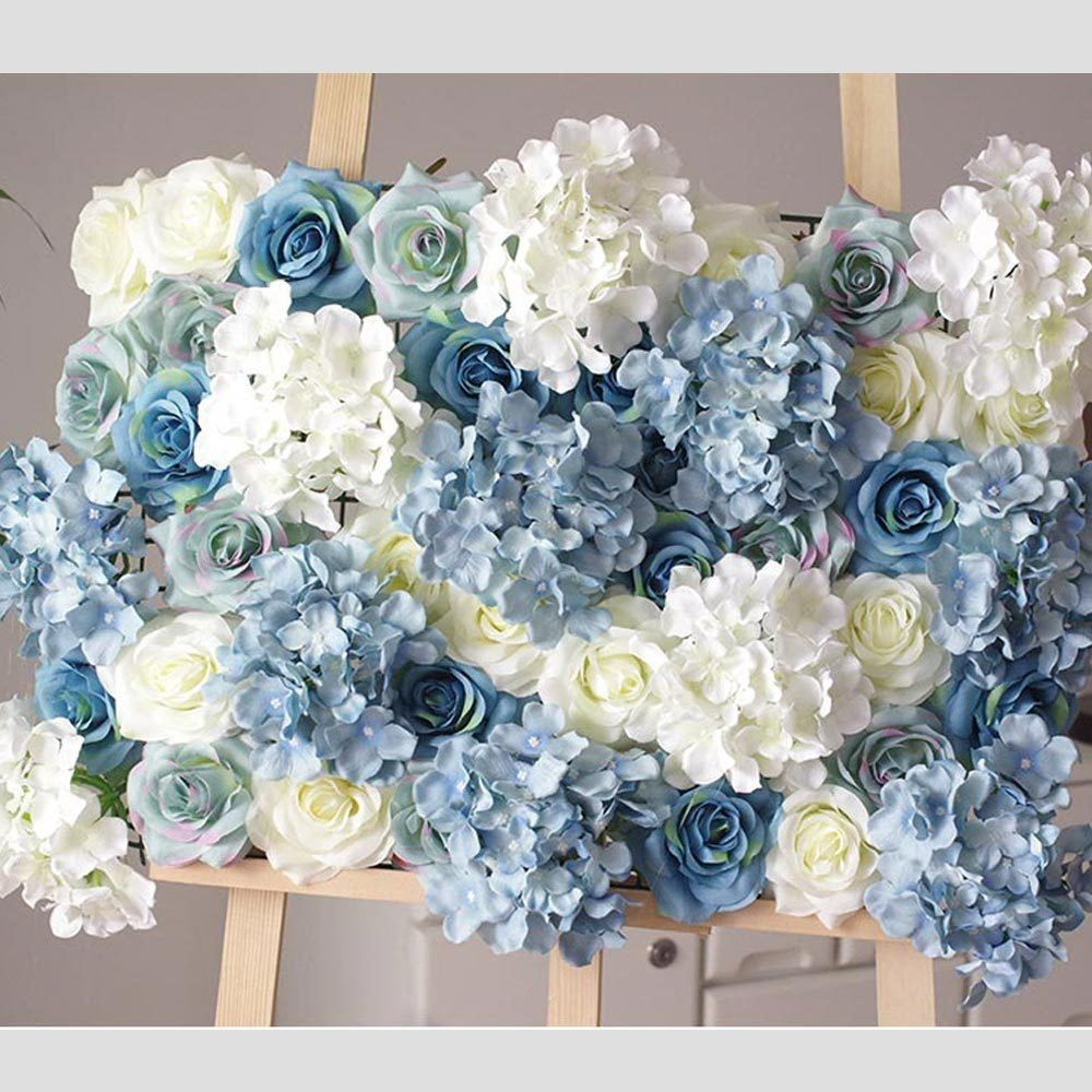 Summer Blue Rose Hydrangea Flower Wall Photo Backdrop Beach Image 0 Flower Wall Wedding Blue Hydrangea Centerpieces Flower Backdrop Wedding