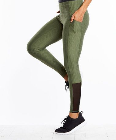b660ae13739ac1 This Olive Jacquard No Excuses Tights is perfect! #zulilyfinds ...