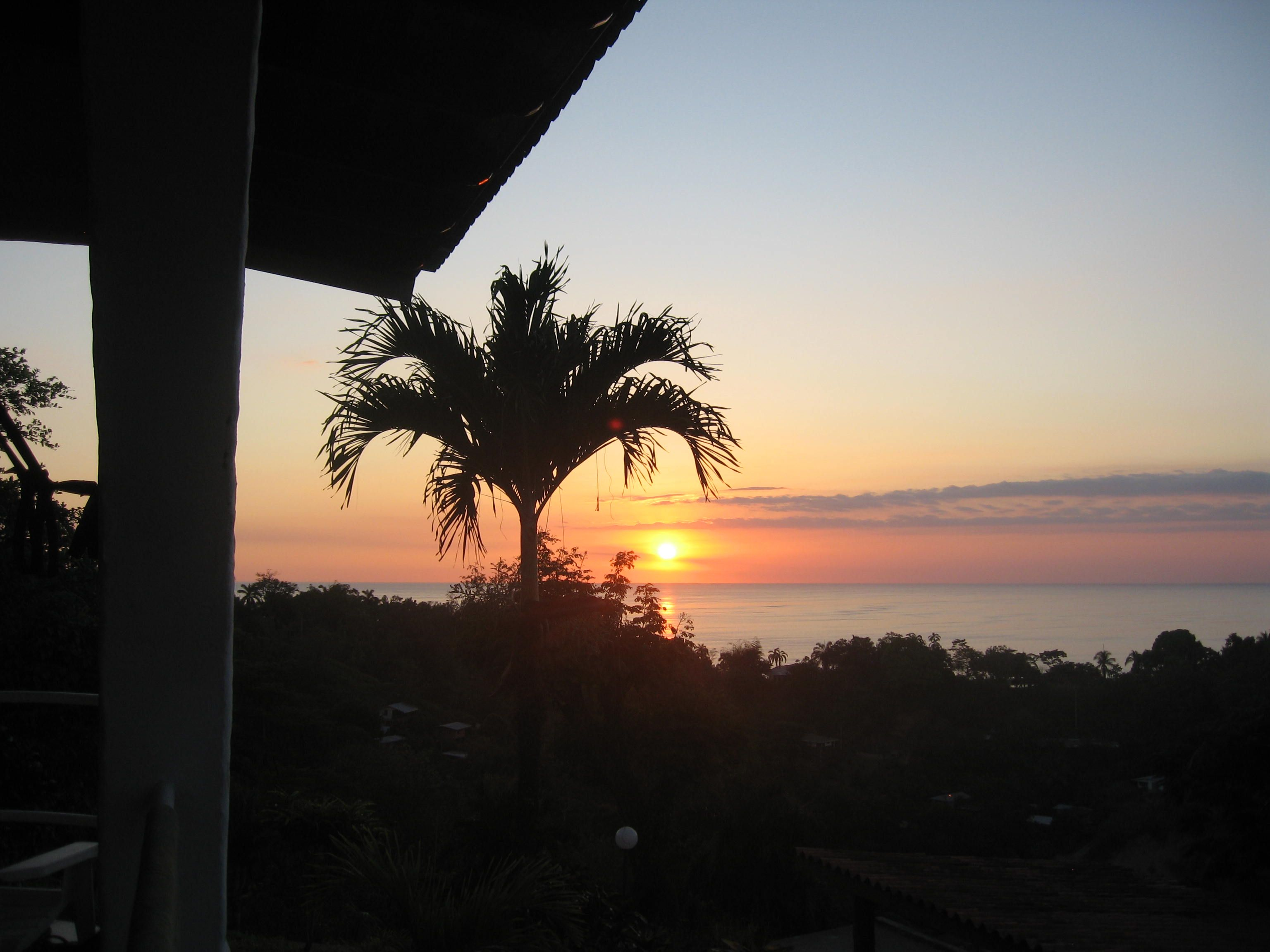 Sunset over Manuel Antonio Beach a sight to behold!