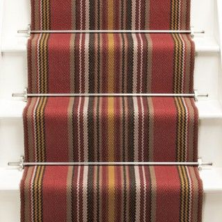 Best Chatham Narrow Turkey Red Roger Oates Stair Runner 400 x 300