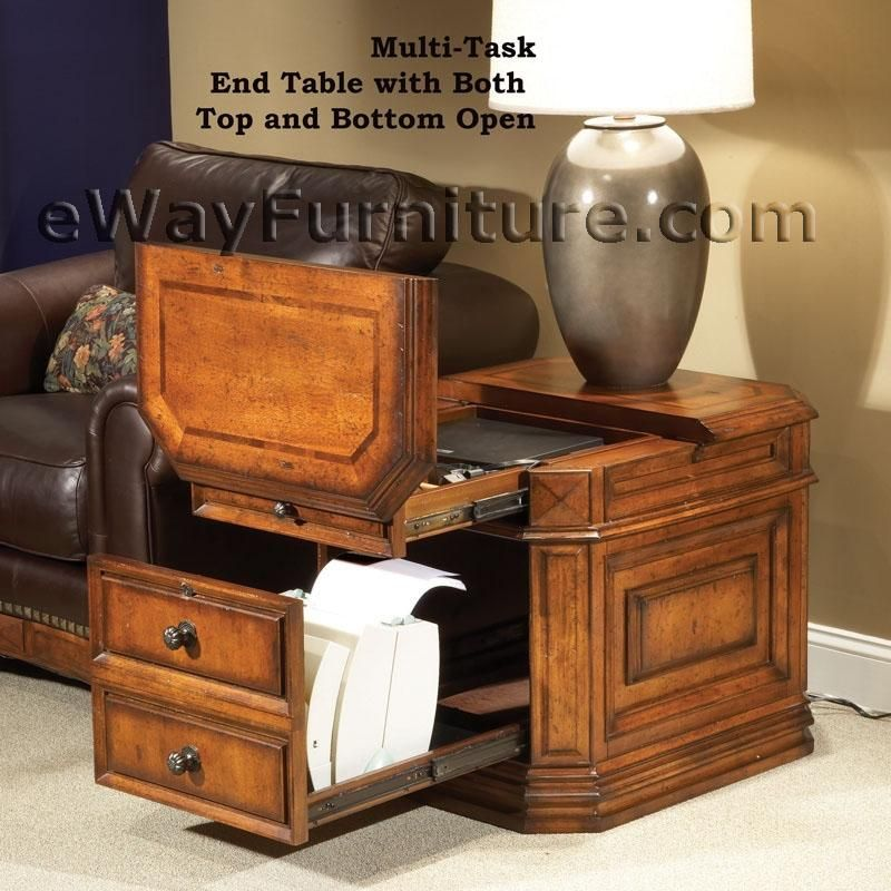 Laptop Storage End Table I Love Multi Tasking Furniture I Must