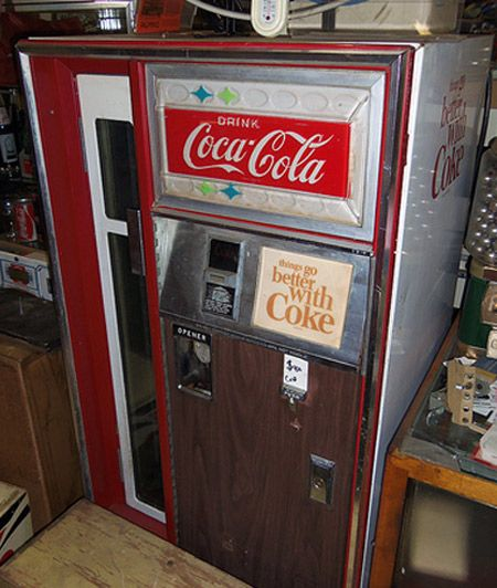 A Small Old Coca Cola Machine At Pinball Perfection In Pittsburgh PA