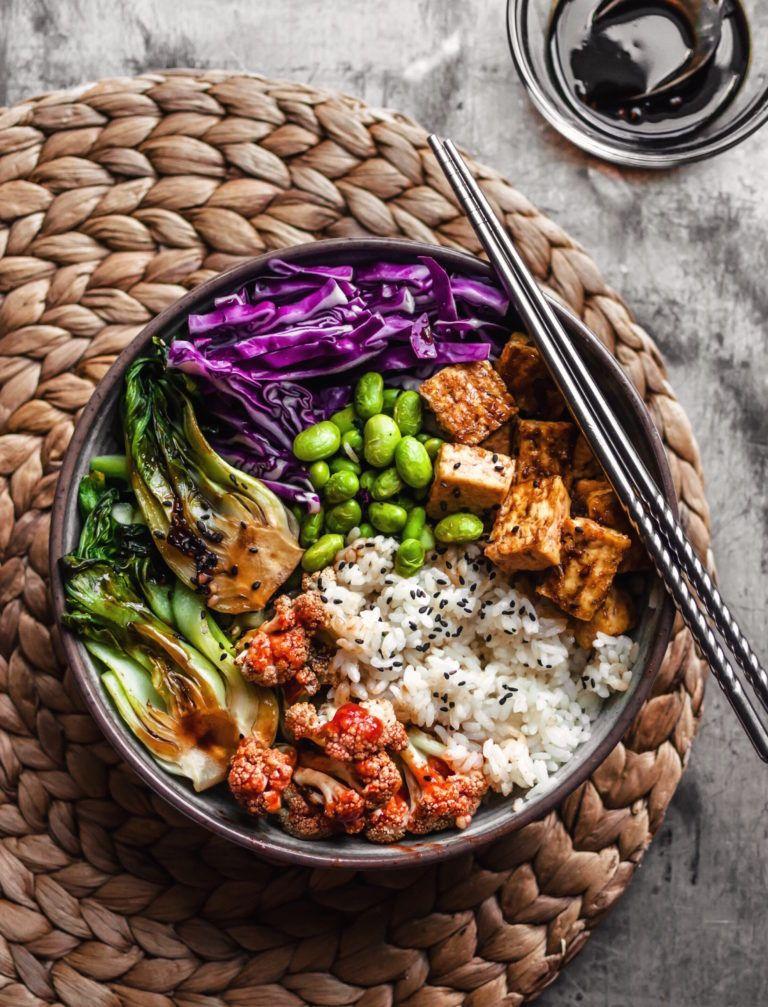 Crispy Teriyaki Tofu Rice Bowl The Plant Based Wok Recipe Teriyaki Tofu Healthy Food Recipes Clean Eating Plant Based Recipes Dinner