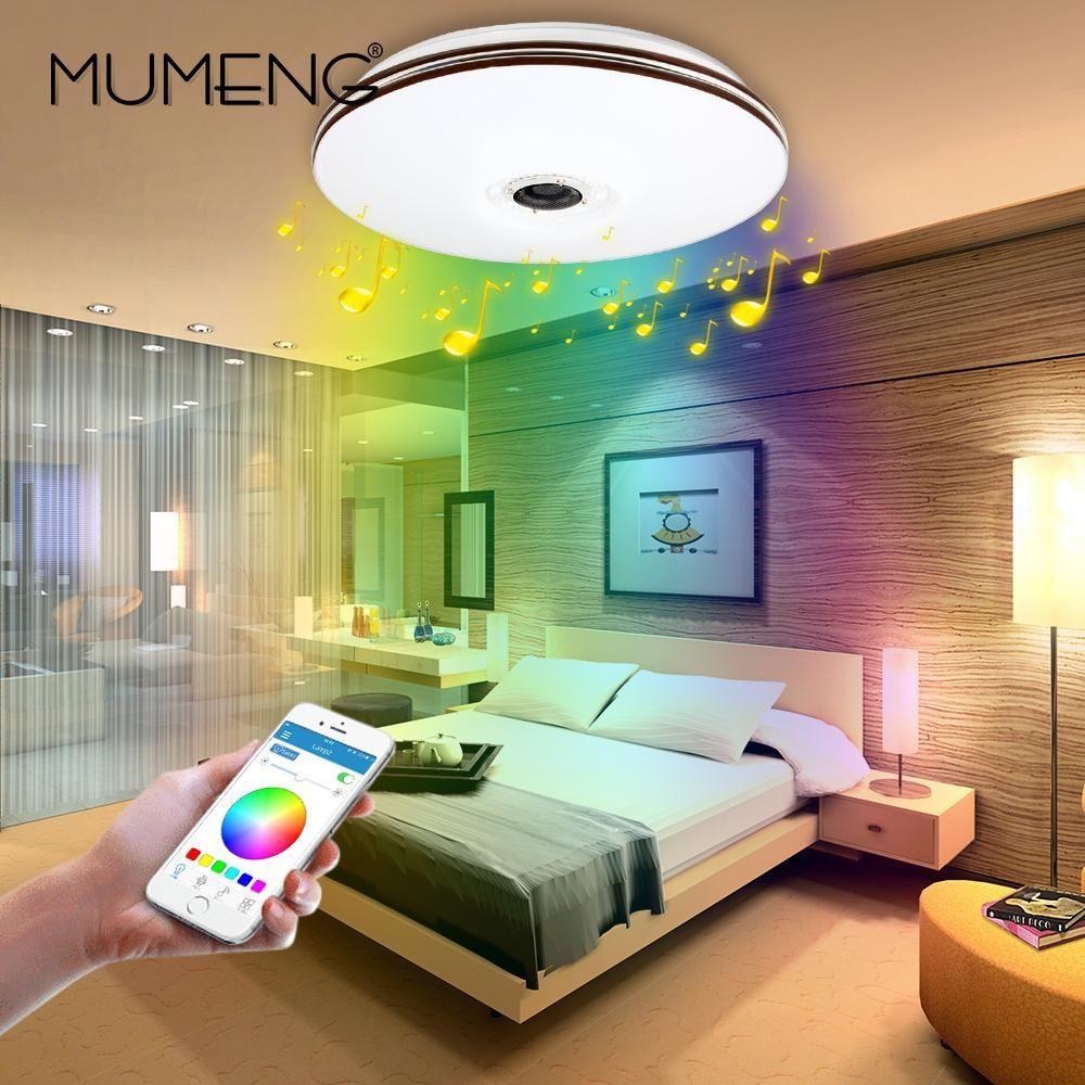 mumeng LED Ceiling Light Modern RGB Living Room Luminaria 32W ...