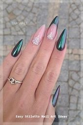 : 30 Great Stiletto Nail Art Design Ideas #nail #naildesigns ...- 30 Great Stile...