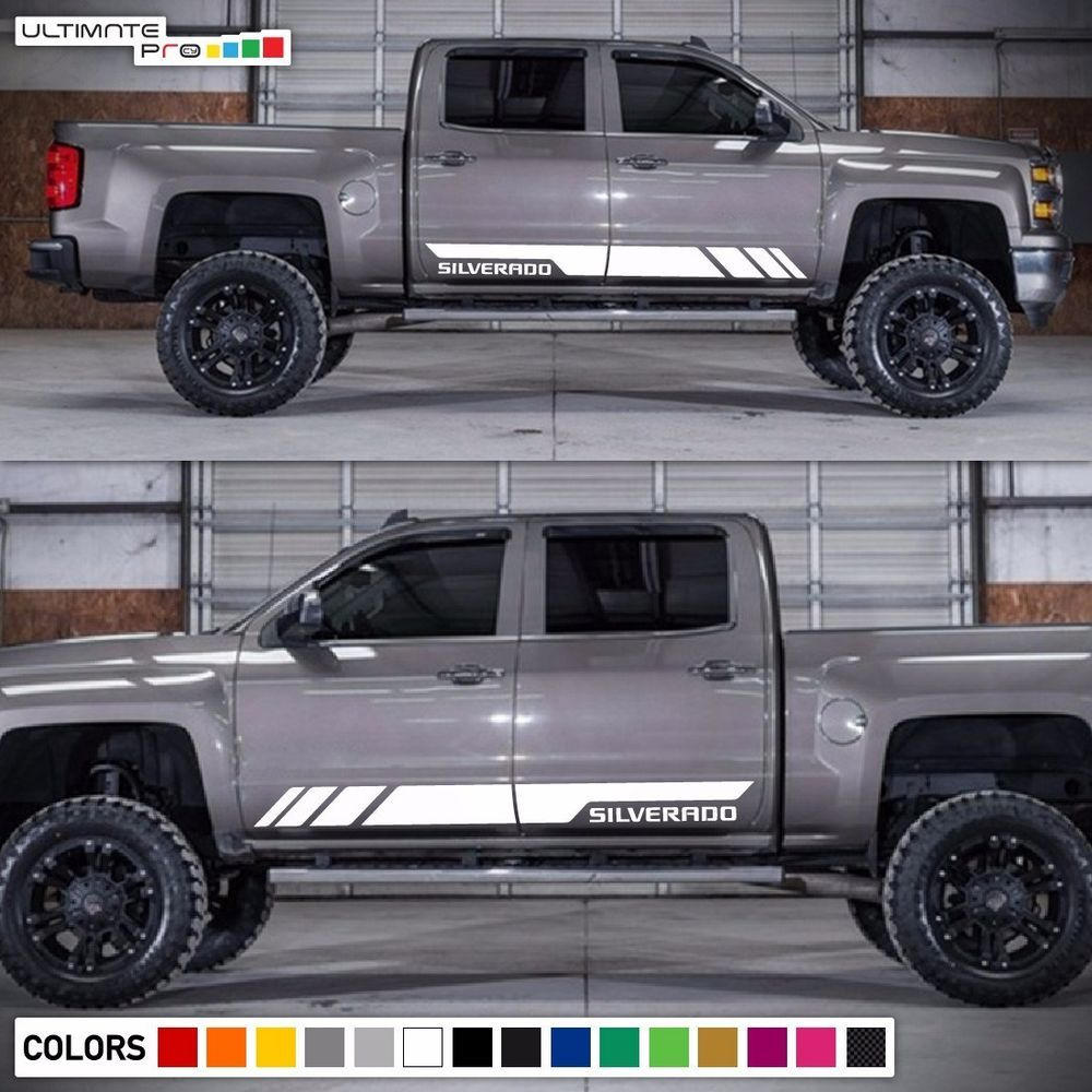 Decal sticker graphic stripes for chevrolet silverado sport light led grille z71 ultimateprocy1ulti10deca15