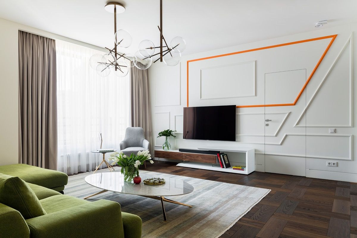 50 Ideas To Decorate The Wall You Hang Your Tv On Lounge Interiors Living Room Tv Living Room White