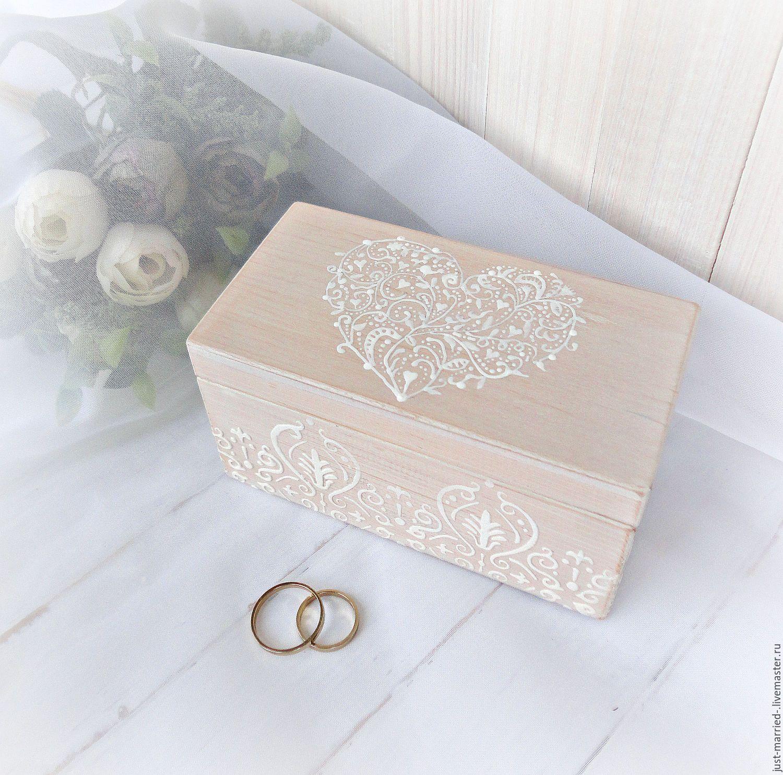 Купить коробочка для колец на свадьбу