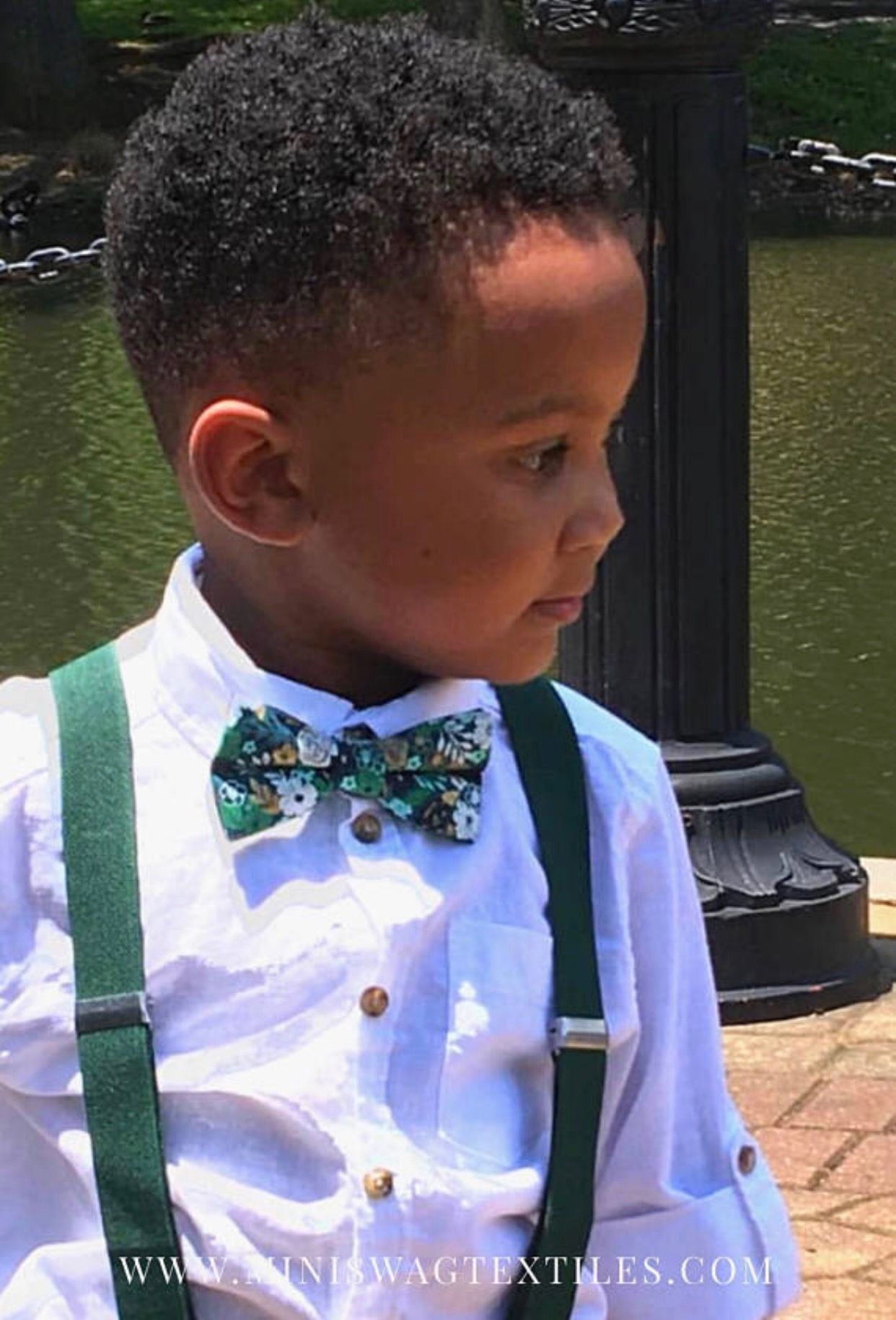 Boys Floral Bow Tie Set, Baby Bow Tie and Suspenders ...