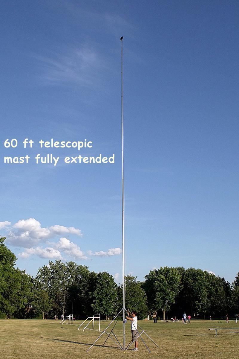 60ft telescopic mast fully extended   Radios   Telescope, Ham radio, Ham