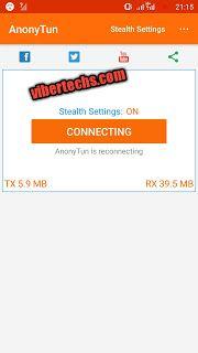 Latest Etisalat Free Browsing Cheat Using Anonytun VPN App