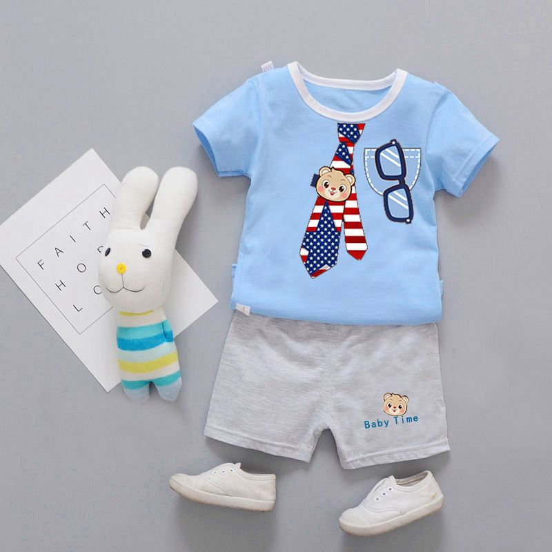 cadebc01d5ce3 Baby Boys Clothes 2018 summer Casual kids Clothing Sets Short sleeve ...