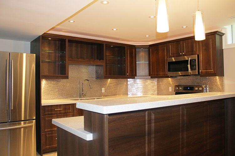 Modern Dark Brown Melamine Kitchen | mini kitchens | Modern kitchen
