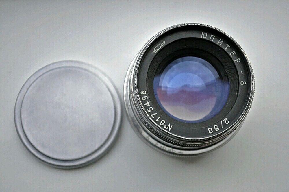 Jupiter-8 50mm f2 0 Silver Lens M39 LTM Zorki Leica f2 KMZ