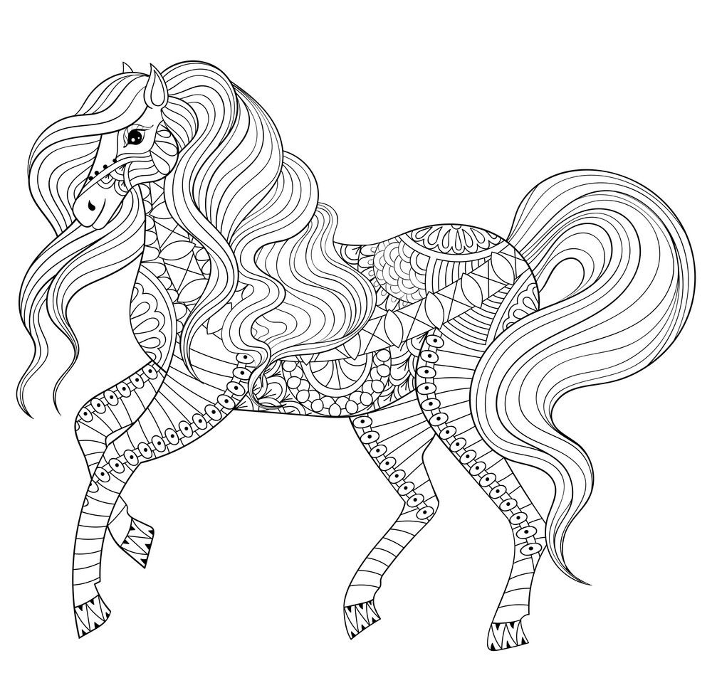 Horse Coloring Pages for Adults | Horse coloring pages ...