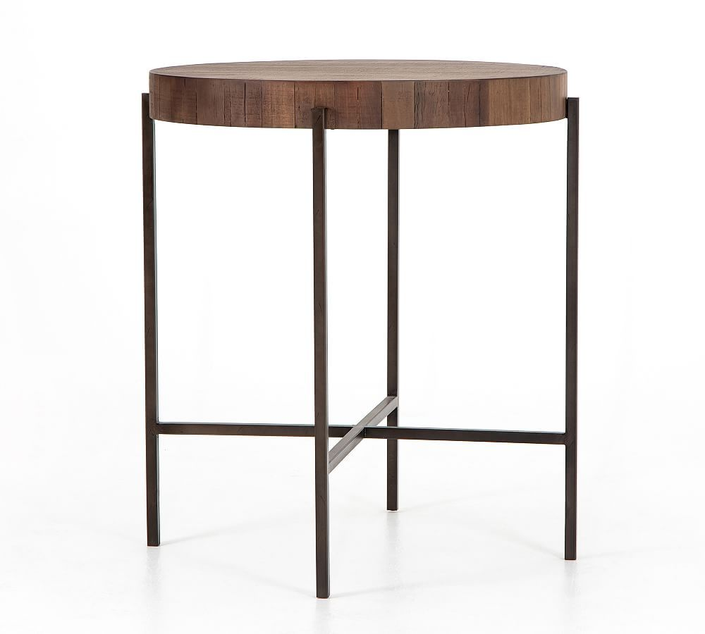 Fargo Round Reclaimed Wood Bar Height Table Reclaimed Wood Bars Reclaimed Wood Coffee Table Bar Height Table [ 900 x 1000 Pixel ]