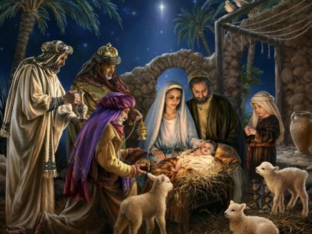 Birth Of Christ Other Wallpaper Id 1904314 Desktop Nexus Abstract Christmas Nativity Scene Christmas Nativity Cross Paintings