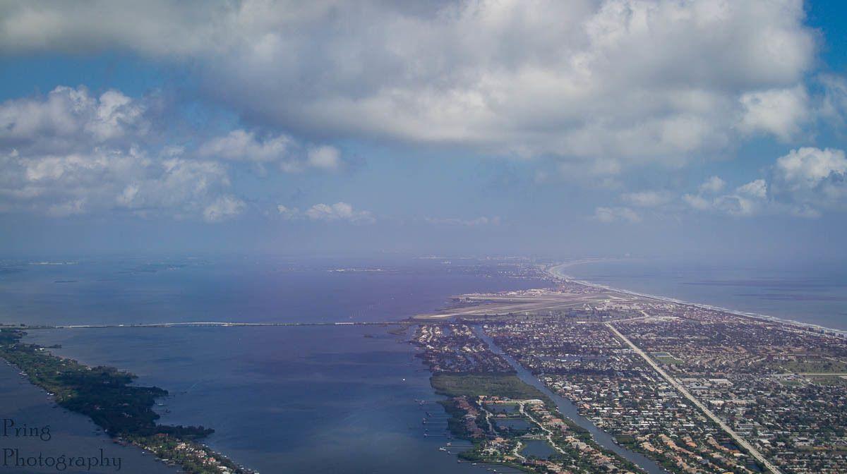 View of Pineda Causeway from Aeroshell flight #aeroshell #t6 #mediaflight #melbourne #florida #airandspaceshow