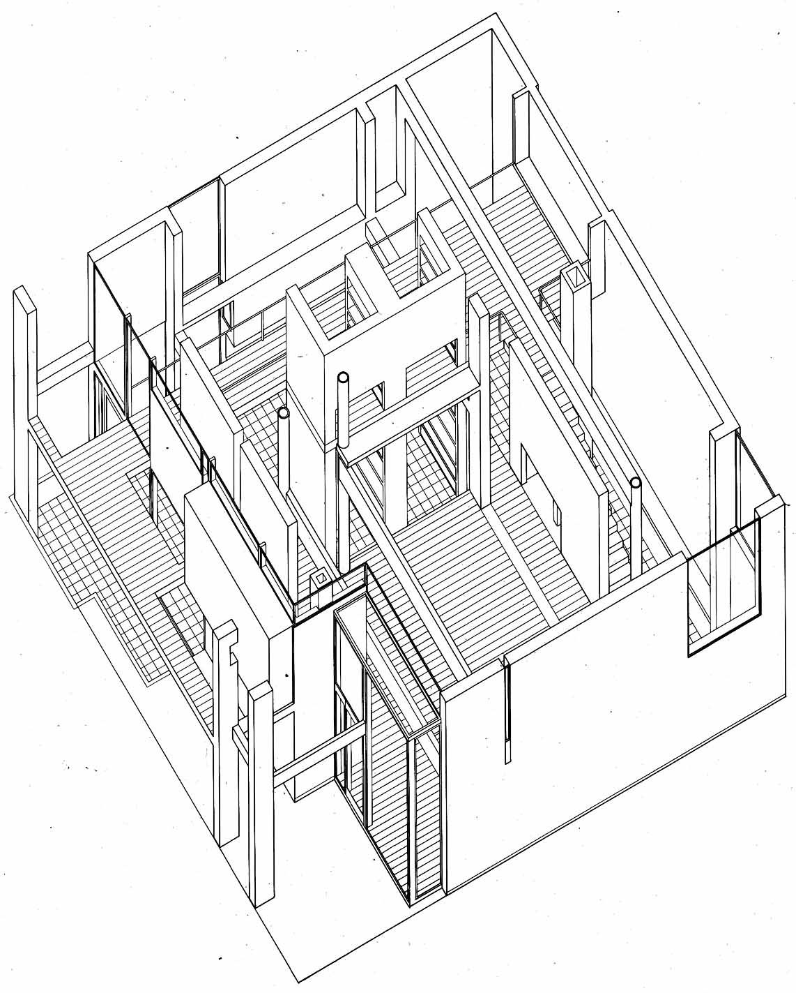 Eisenman peter house i 1967 arquitecture pinterest for 4 1 architecture example