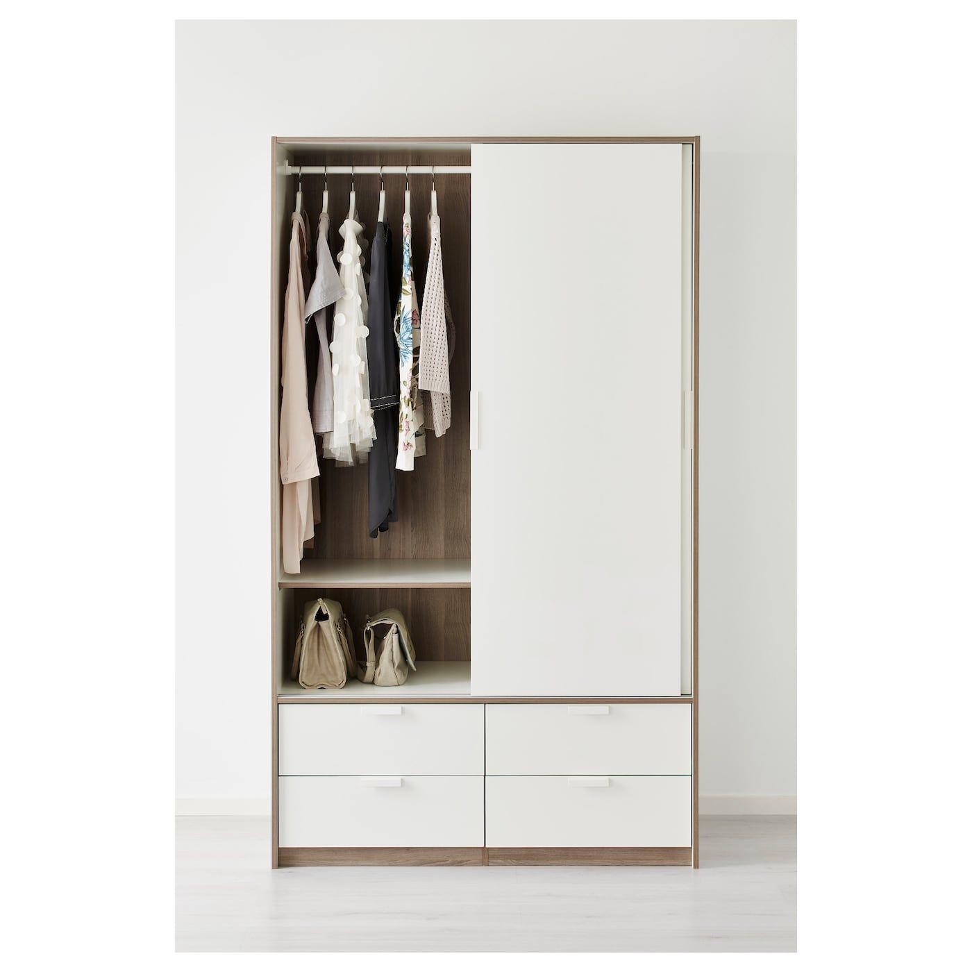 Kledingkast Met Lades.Trysil Kledingkast Schuifdeuren 4 Lades Wit In 2019 Ikea