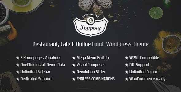 Download and review of Peppery - Restaurant/Cafe/Food Online WP Theme, one of the best Themeforest Entertainment themes {Download & review at|Review and download at} {|-> }http://best-wordpress-theme.net/peppery-restaurant-cafe-food-online-wp-download-review/
