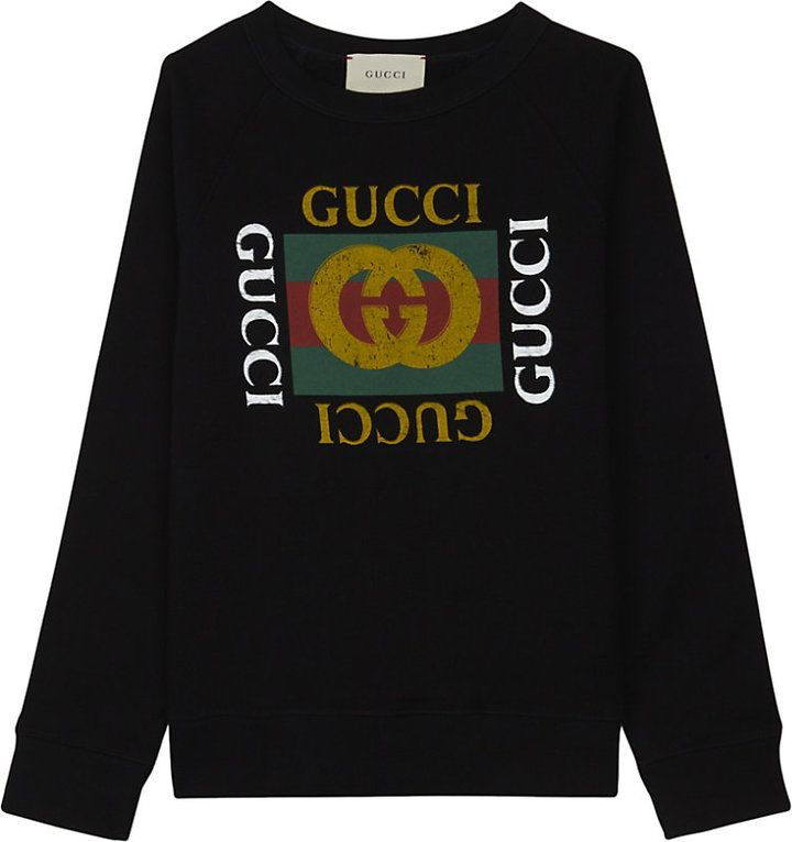 8d6c56622eb Gucci  GG  logo cotton sweatshirt 4-12 years