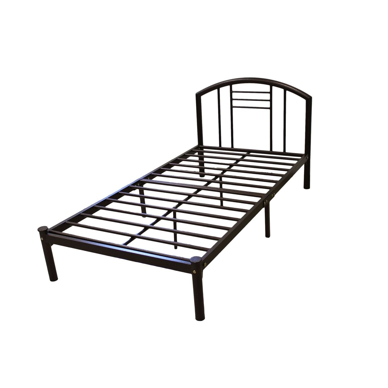 Full size Metal Platform Bed Frame with Headboard in Bronze Finish ...