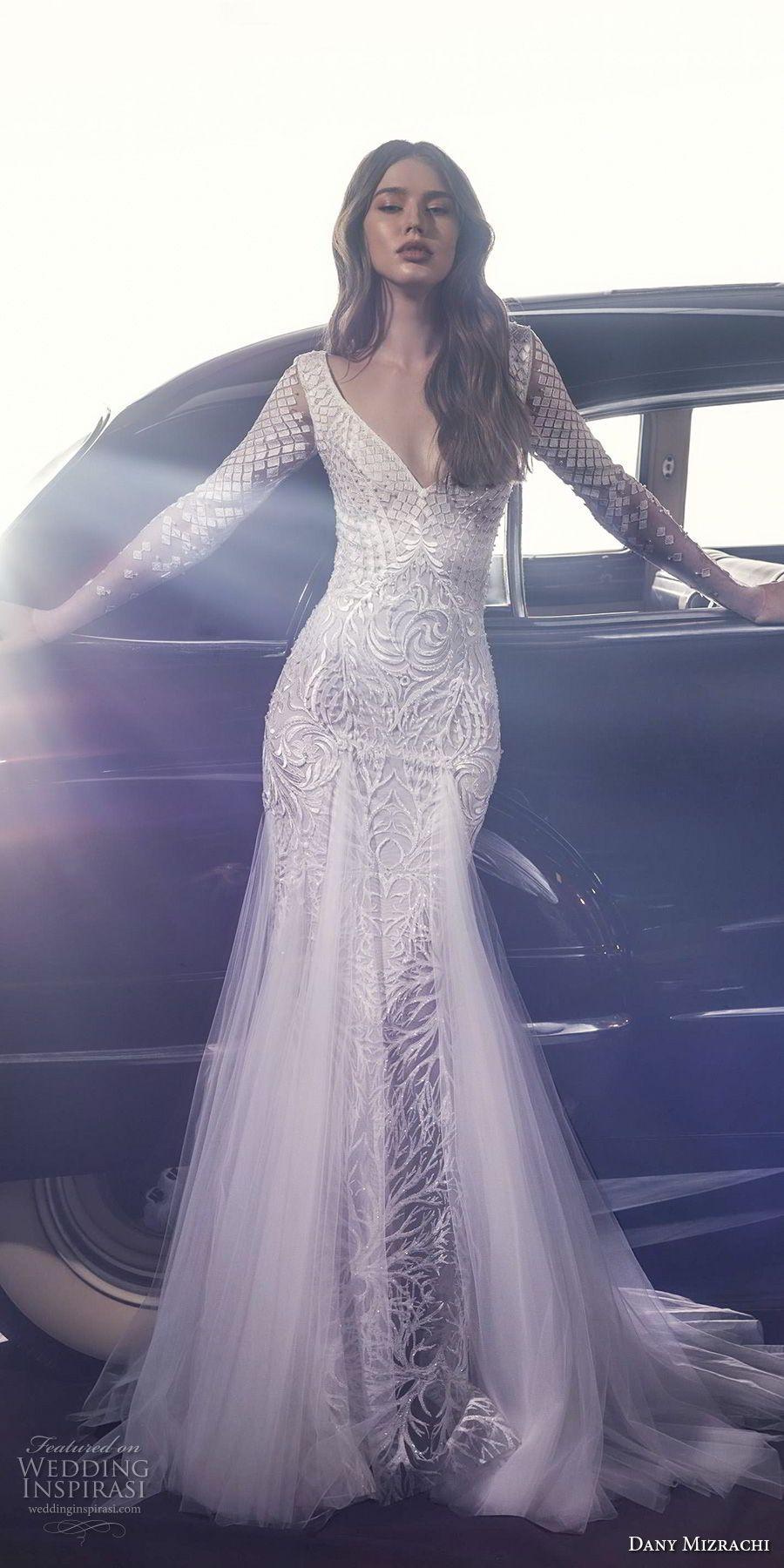 Dany mizrachi fall wedding dress chapel train wedding dress