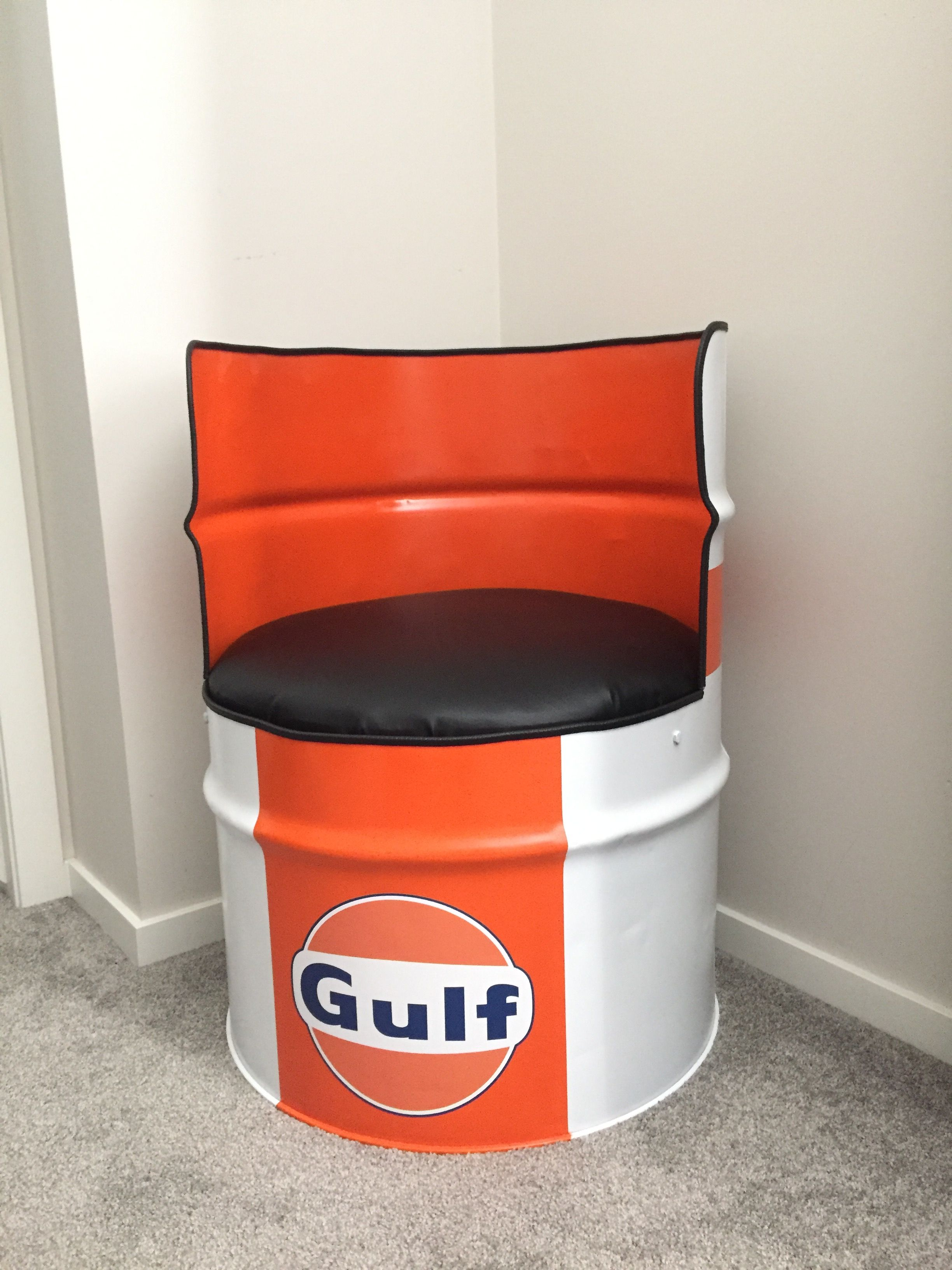 Bon 55 Gallon Drum Chair. I Just Finished Making It! I Love How It Turned Out!