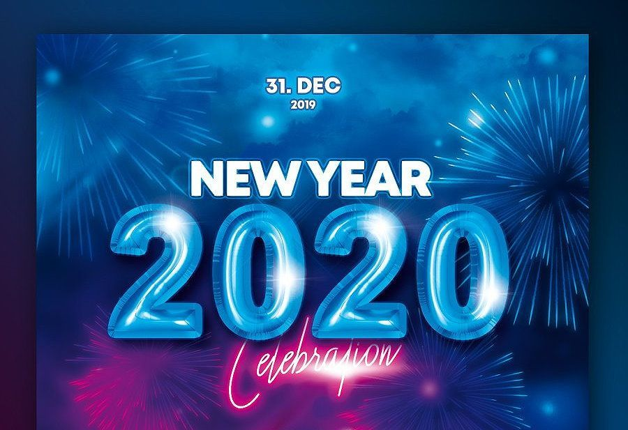 30+ Incredible New Year Flyer Templates for 2020