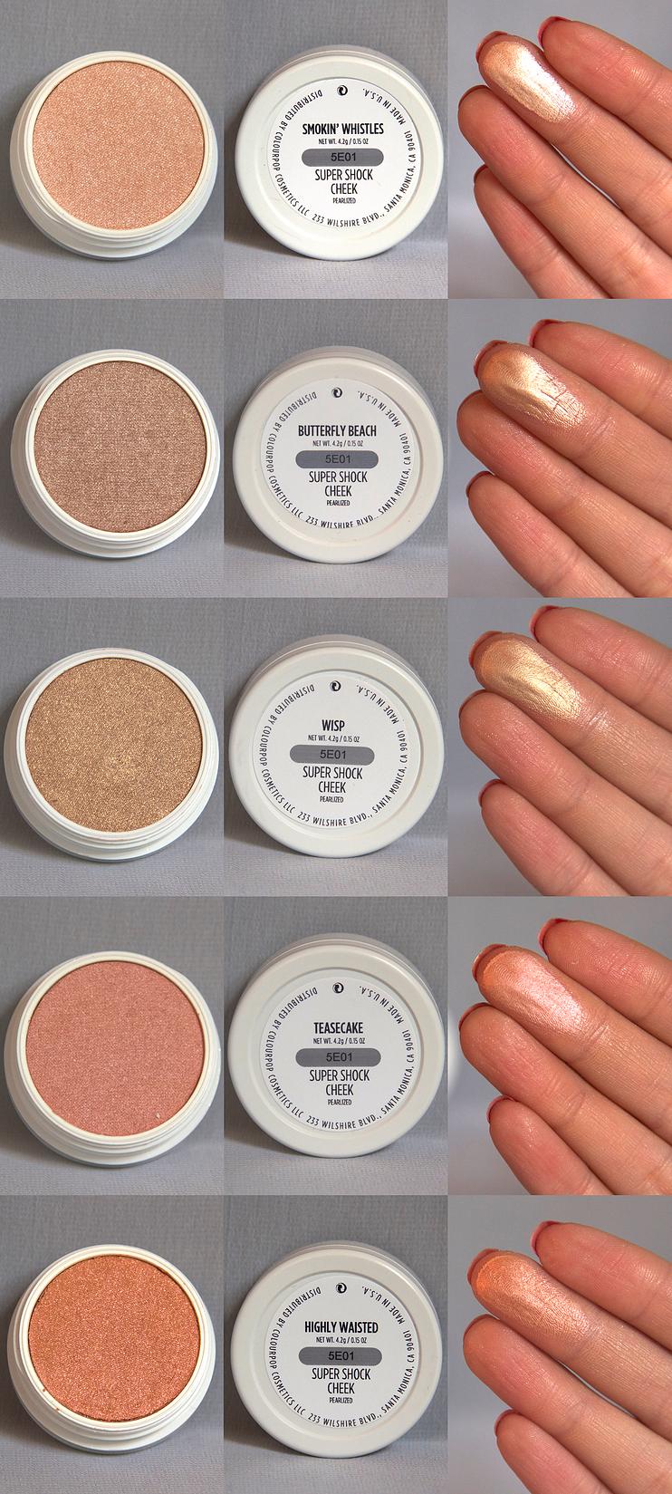 Colourpop Kylie Cosmetics: Colourpop Highlighter Collection & Swatches