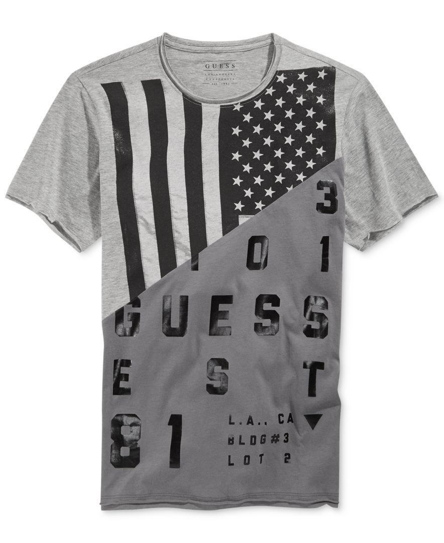 Guess Mixed Print Graphic T-Shirt