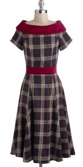 vestidos convidadas. the perfect winter dress! love the plaid.