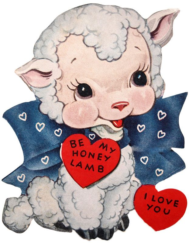 Be My Honey Lamb Vintage Valentine Card Vintage Fangirl – Old Fashioned Valentine Cards