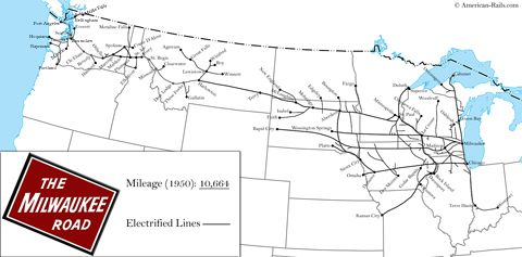 The Milwaukee Road in 2020 | Milwaukee road, Milwaukee ... on wheeling & lake erie route map, union pacific route map, virginia & truckee route map, chicago great western route map, united route map, grand trunk route map, milwaukee railroad lines, air canada route map, milwaukee railroad in idaho, air china route map, georgia railroad route map, soo line railroad map, strasburg railroad route map, illinois central route map, mt. shasta route map, via rail canada route map, rock island route map, iberia route map, southern railway route map, dallas area rapid transit route map,