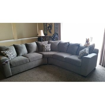 Simmons Upholstery Roxanne Sectional U0026 Reviews | Wayfair