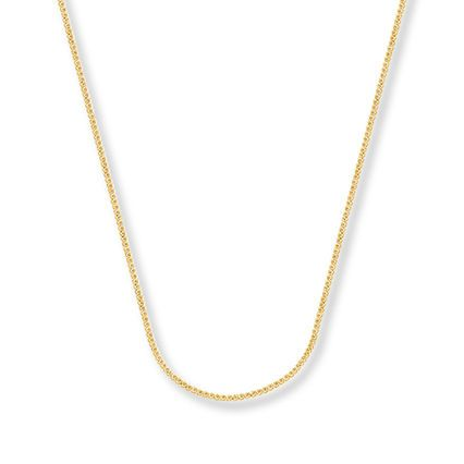 Jared Square Wheat Chain 14K Yellow Gold Necklace 16 Length