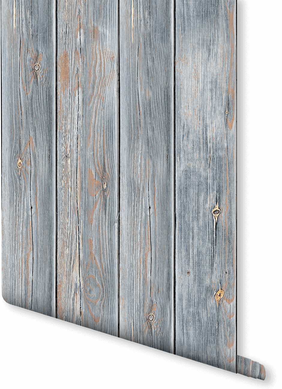 Go Industrial With This Wood Effect Wallpaper Design The Rawness Of Panels Reveal
