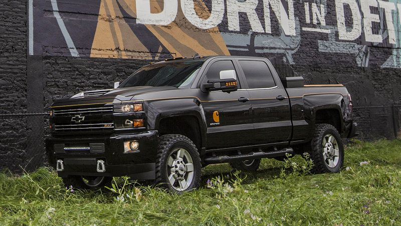 Chevy And Carhartt Team Up For The Ultimate Silverado Special Edition Lifted Chevy Trucks Chevy Trucks Work Truck