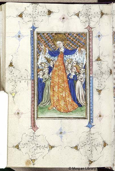 Book of Hours Netherlands, perhaps Delft, 1415-1420 MS M.866 fol. 163v Ursula of Colone - Images from Medieval and Renaissance Manuscripts - The Morgan Library & Museum