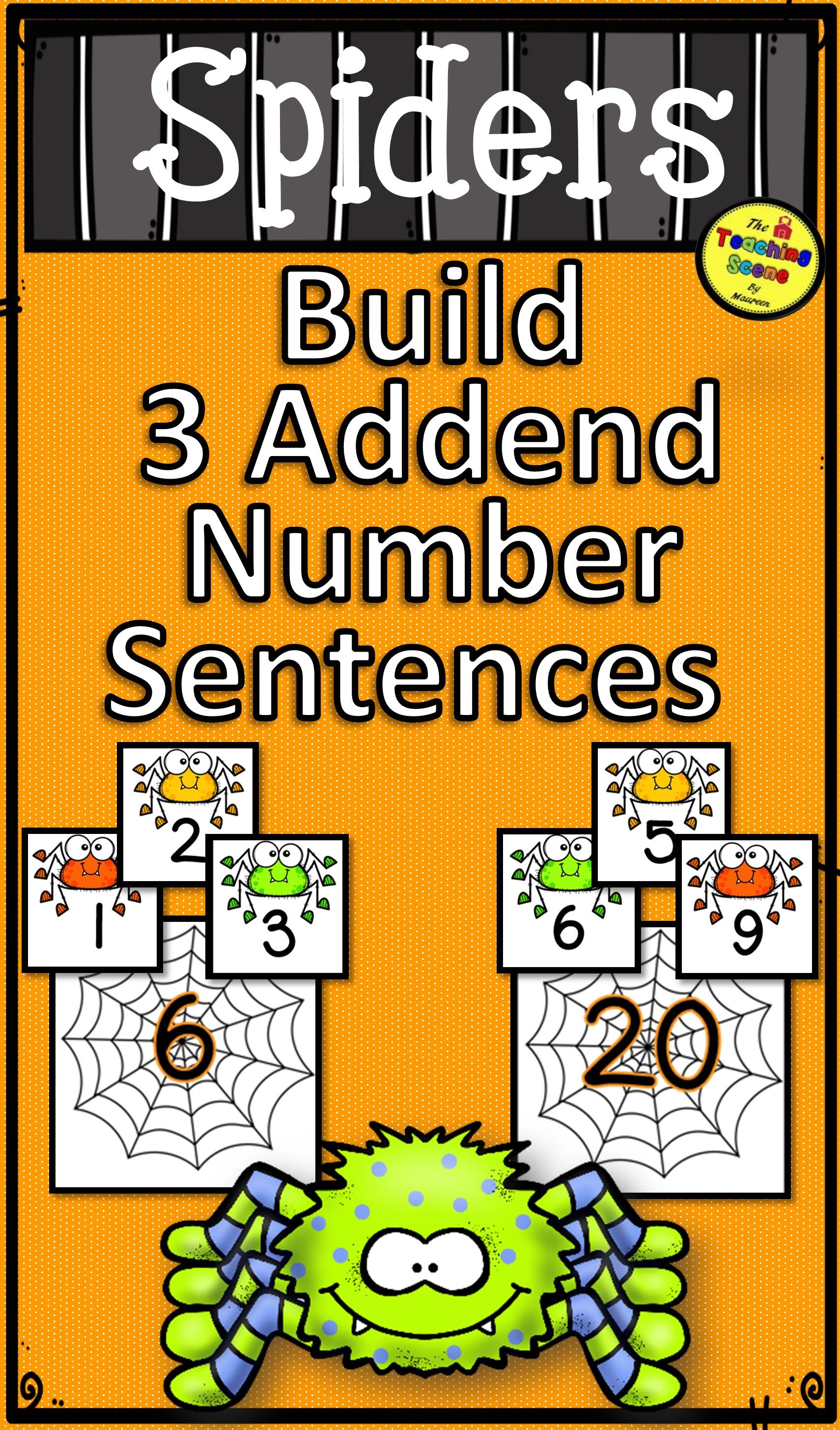 Spiders Build 3 Addend Addition Amp Subtraction Number