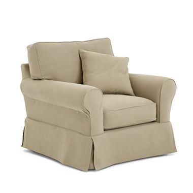 Linden Street Friday Twill Slipcovered Chair   Jcpenney