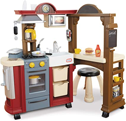Amazon Com Little Tikes Kitchen Restaurant Red Amazon Exclusive Toys Games Bistro Kitchen Toy Kitchen Set Play Kitchen