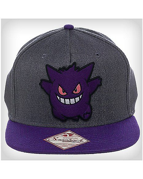 3D Gengar Pokemon Snapback Hat - Spencer s  bf0bf728538