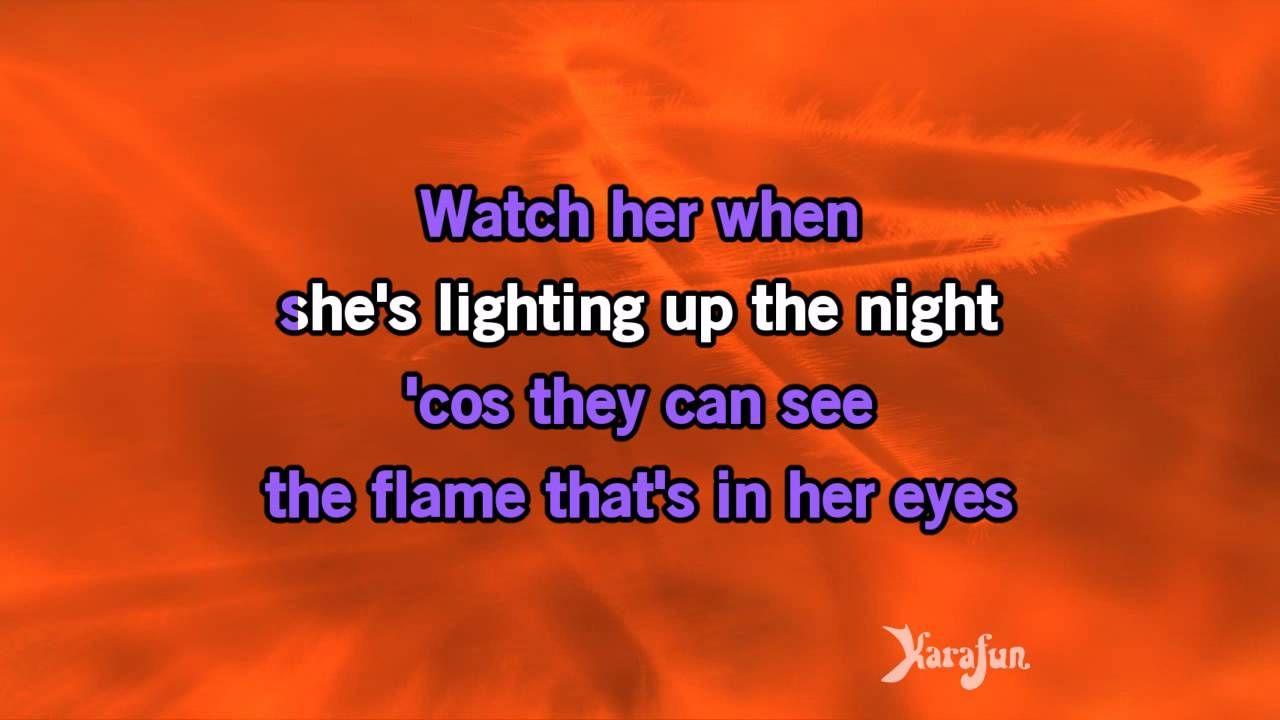 Girl On Fire Main Version Alicia Keys Karaoke Karaoke