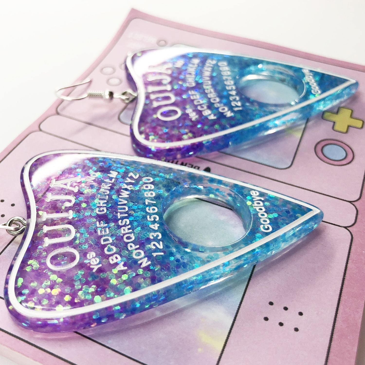CUTIFICIAL Ouija Candy Earrings For Women and Girls Clip-on Exchange Available
