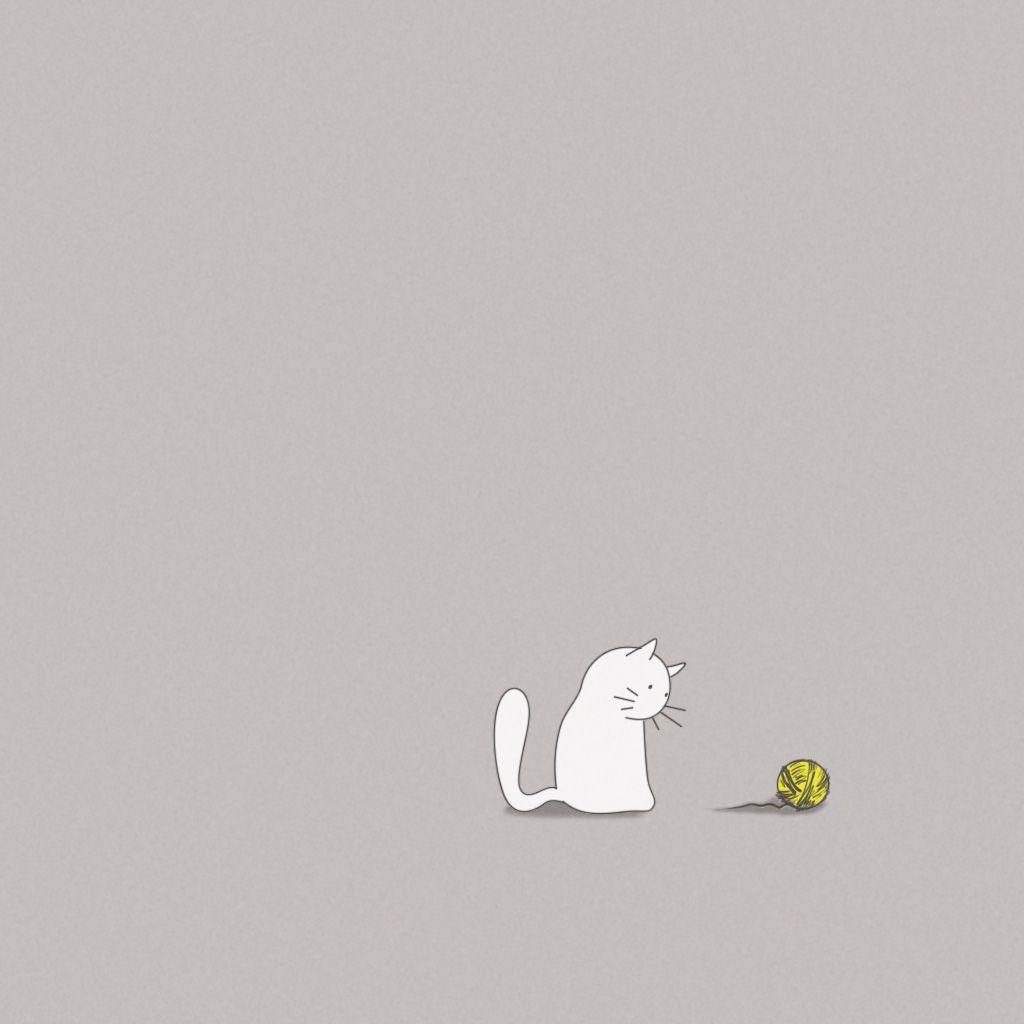 Funny Iphone Wallpapers: Vector Cat IPad Wallpaper